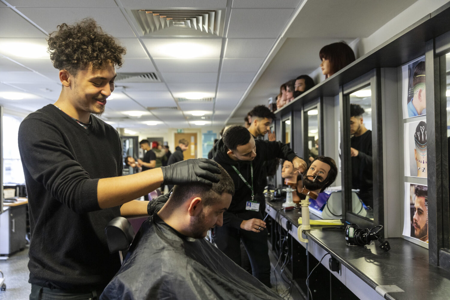 Bedford College Hair And Beauty barbering Image and Text