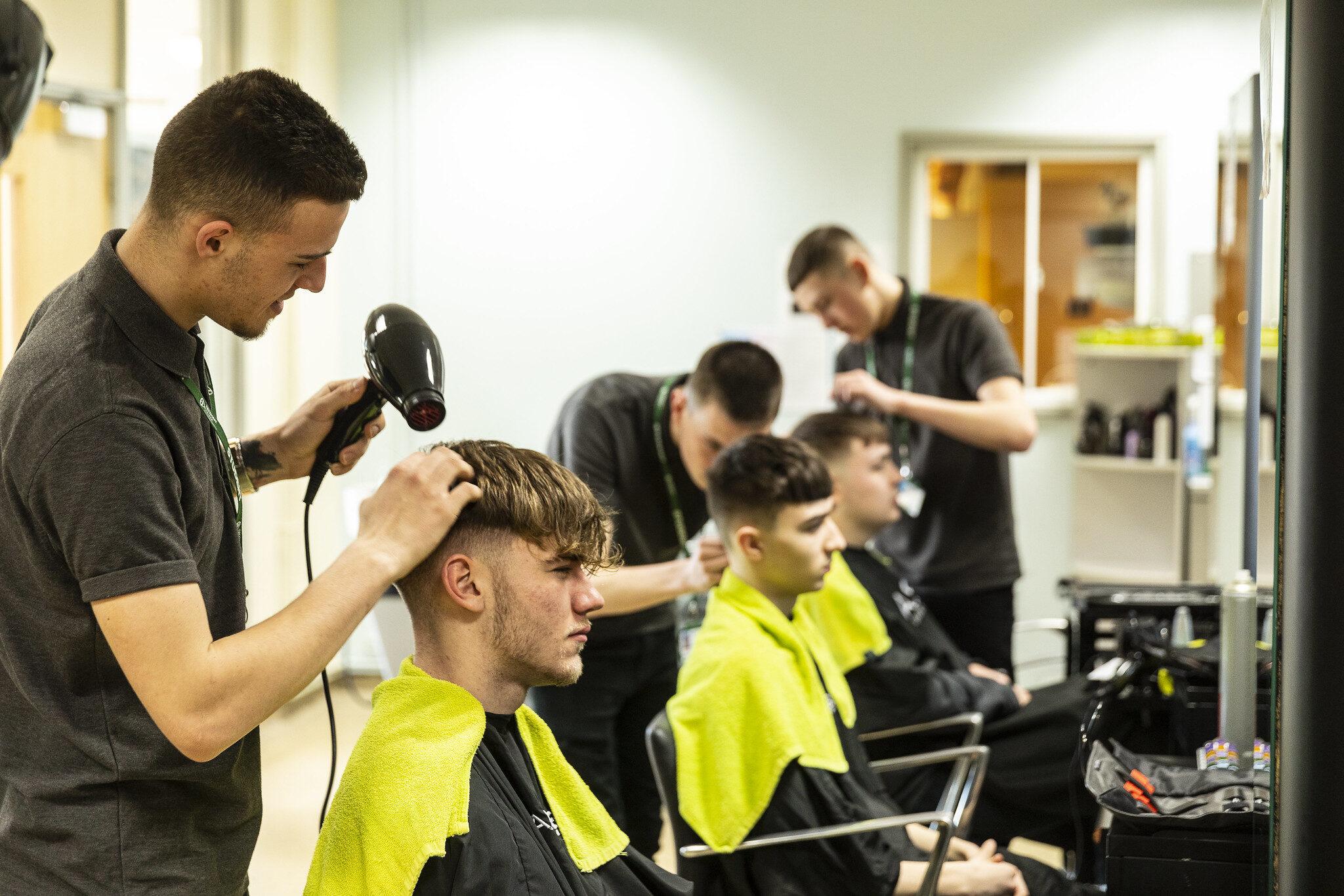 Hair & Beauty Barbering Banner Tresham College