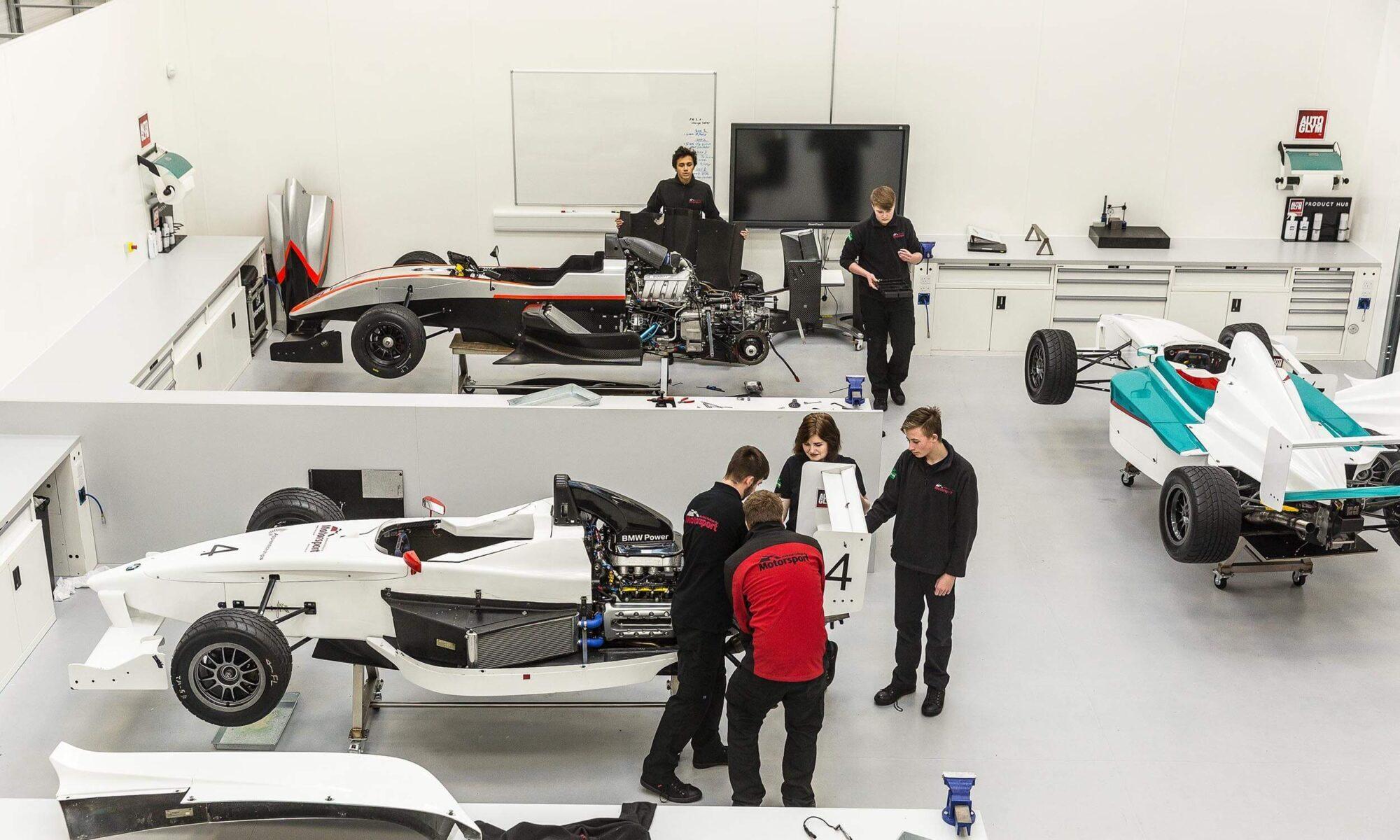 Formula cars National College for Motorsport
