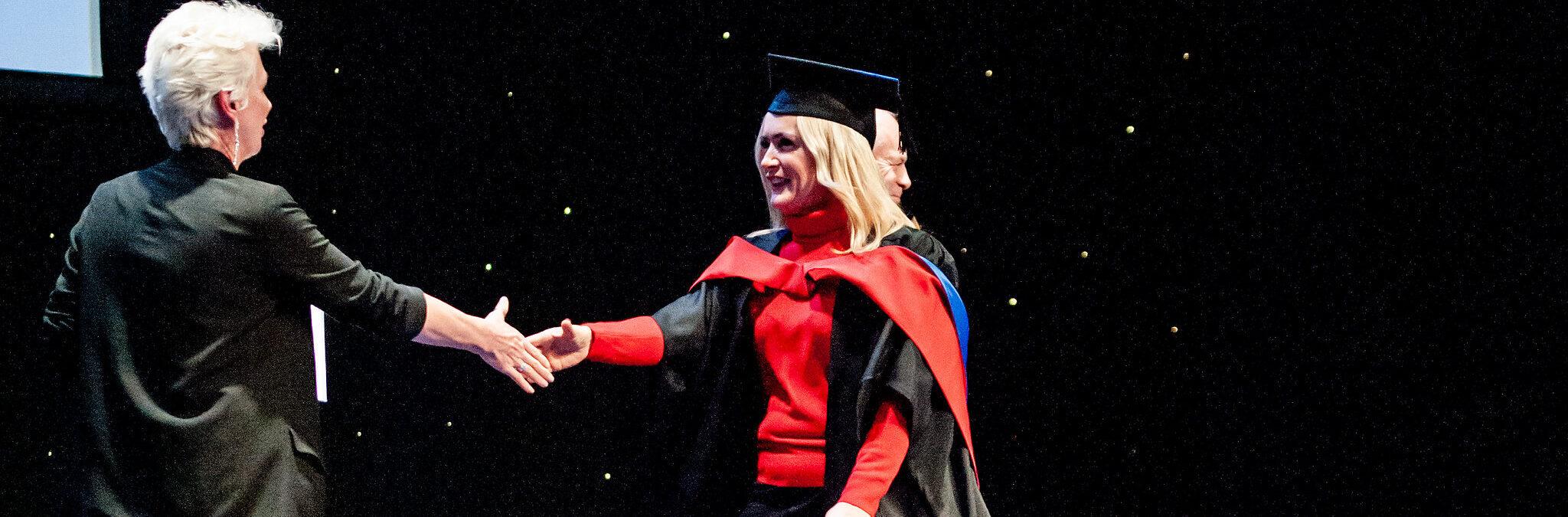 Student graduating Bedford College Achievements Ceremony