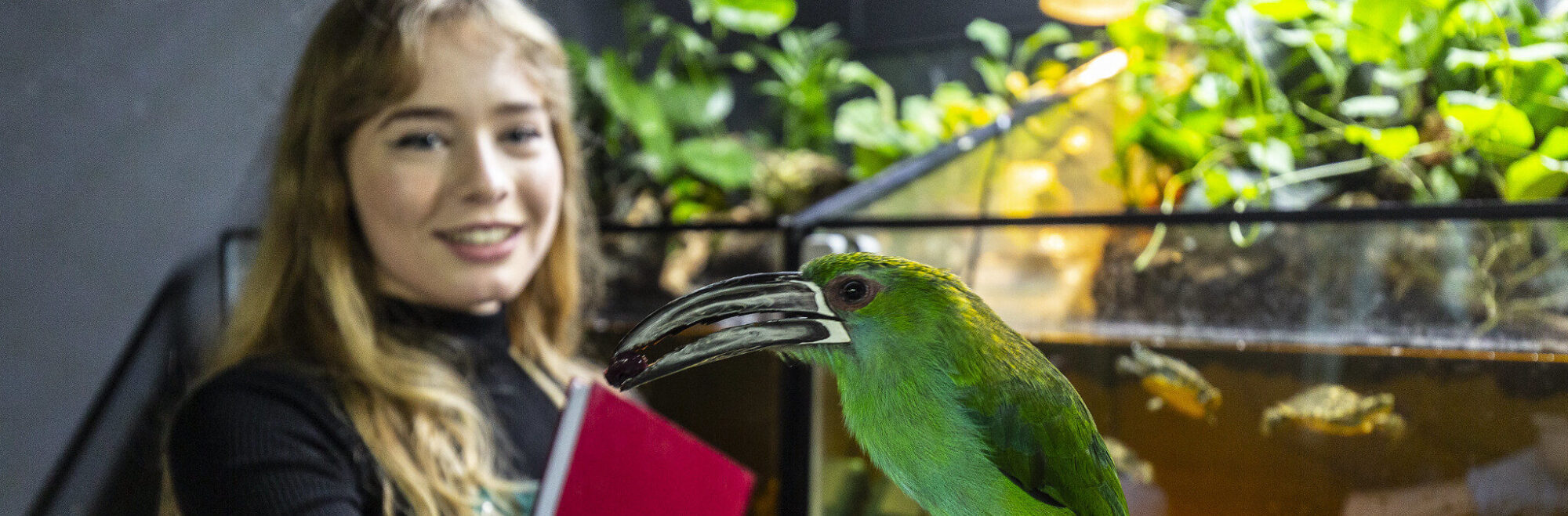 Student and toucanet Animal Sciences Shuttleworth College