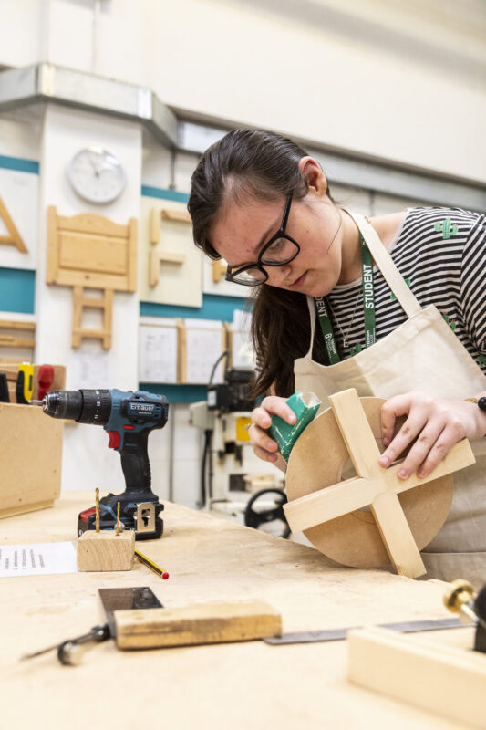 Female construction student Bedford College