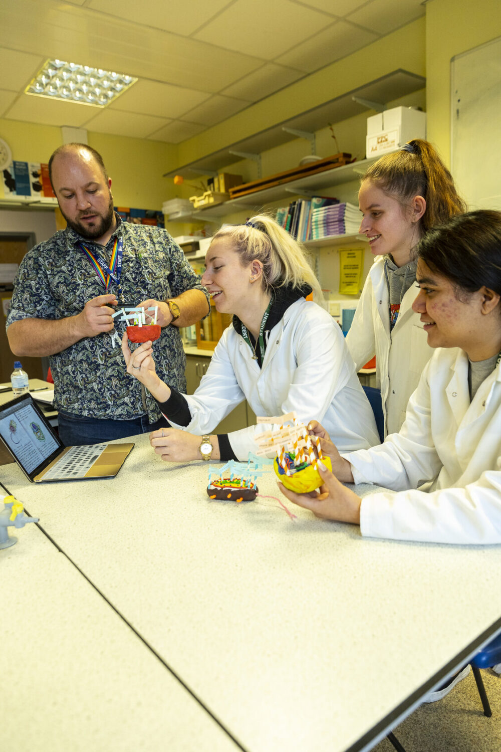 Science students and teacher Tresham College