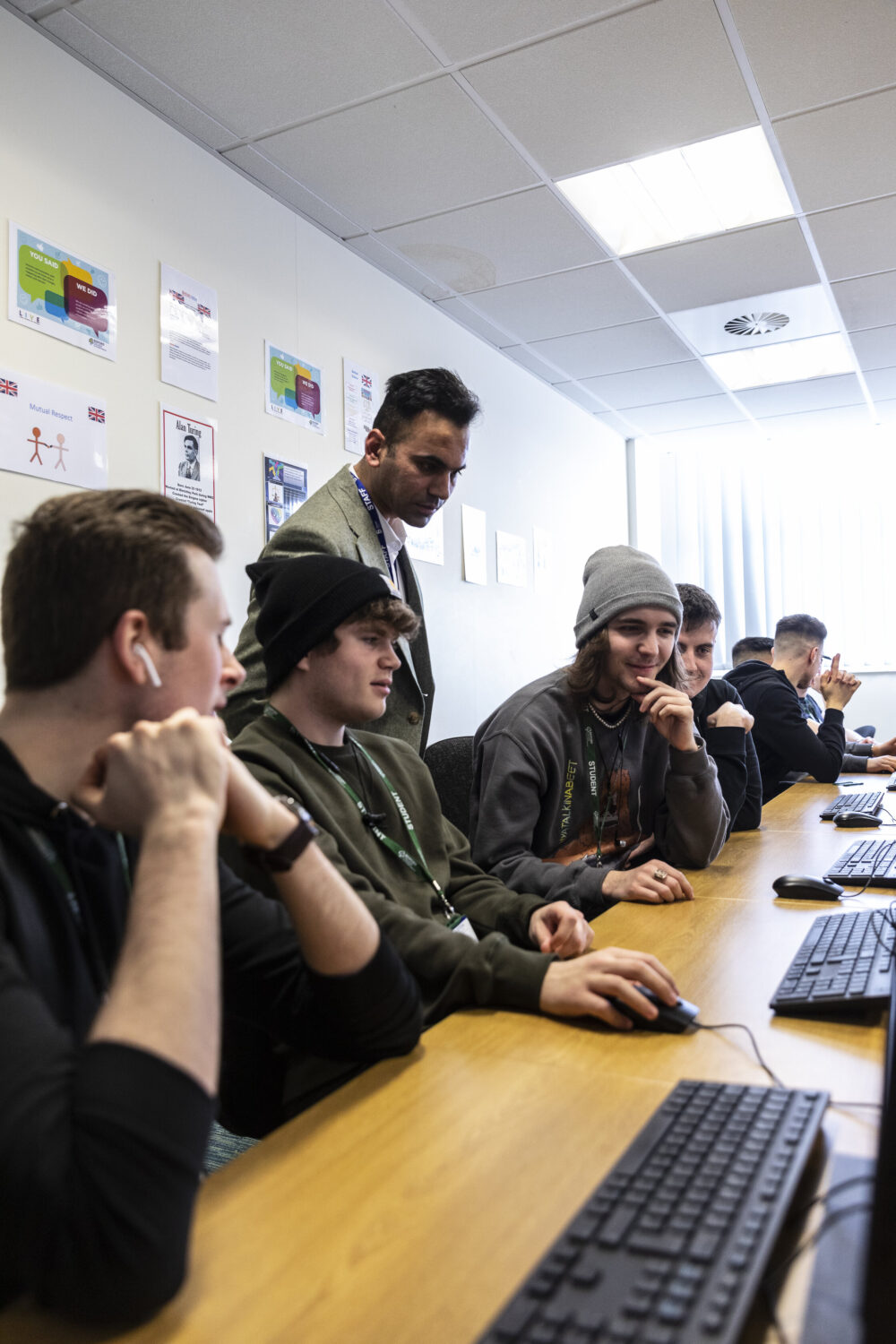Higher Education Computing students Bedford College