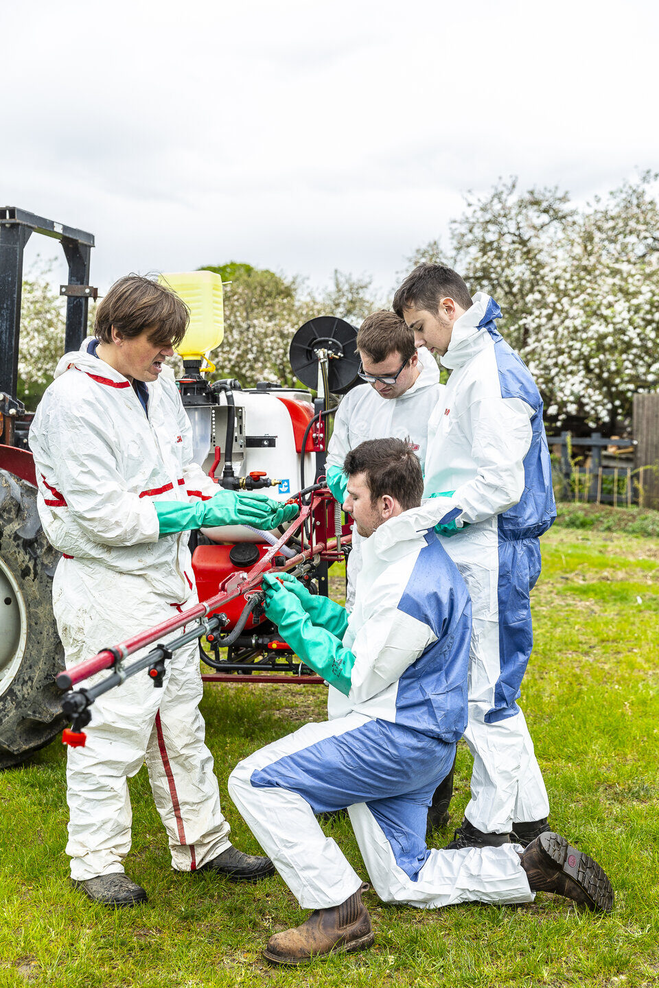 Agriculture students practical lesson Shuttleworth College