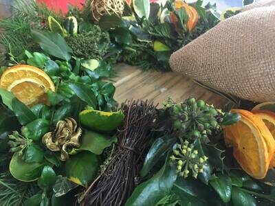 shuttleworth Christmas Wreath Floristry Part-time