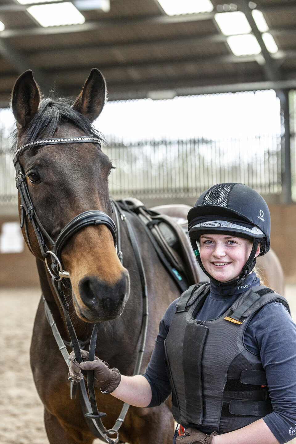 Equine Management student with horse Shuttleworth College