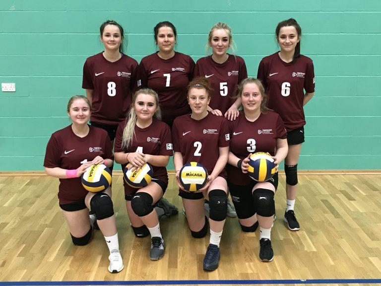 Tresham Girls Volleyball team