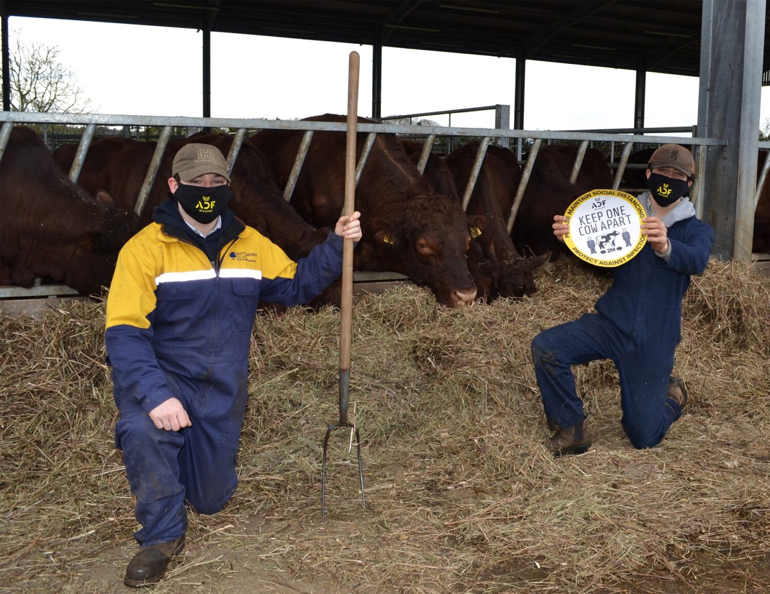 Shuttleworth College Agriculture students with Farm Safety messages