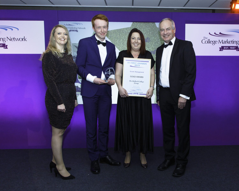 Gold Award at College Marketing Awards 2019