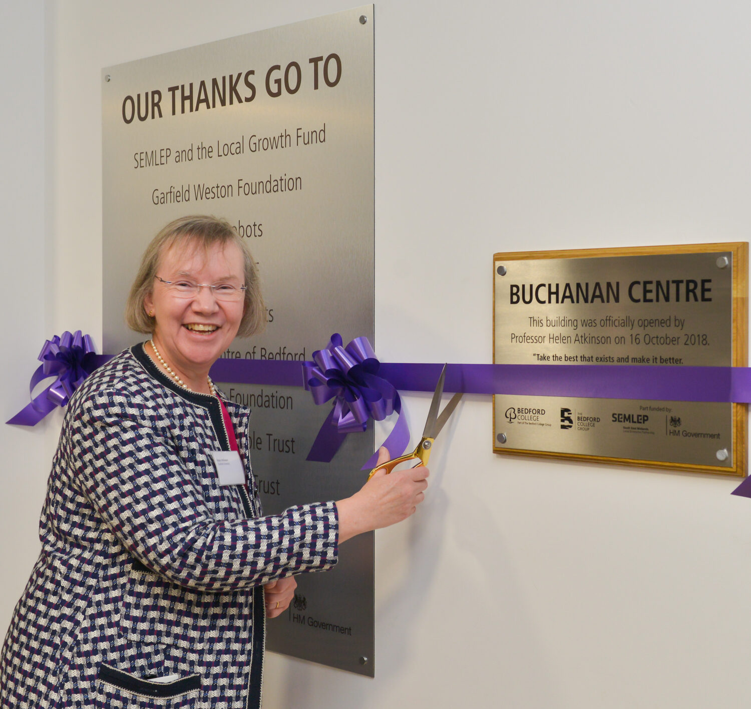 Official opening of Buchanan Centre 2018