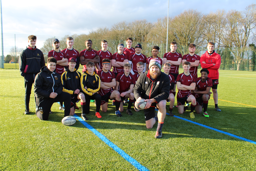 England Rugby Coach on the ball at Tresham College PR story