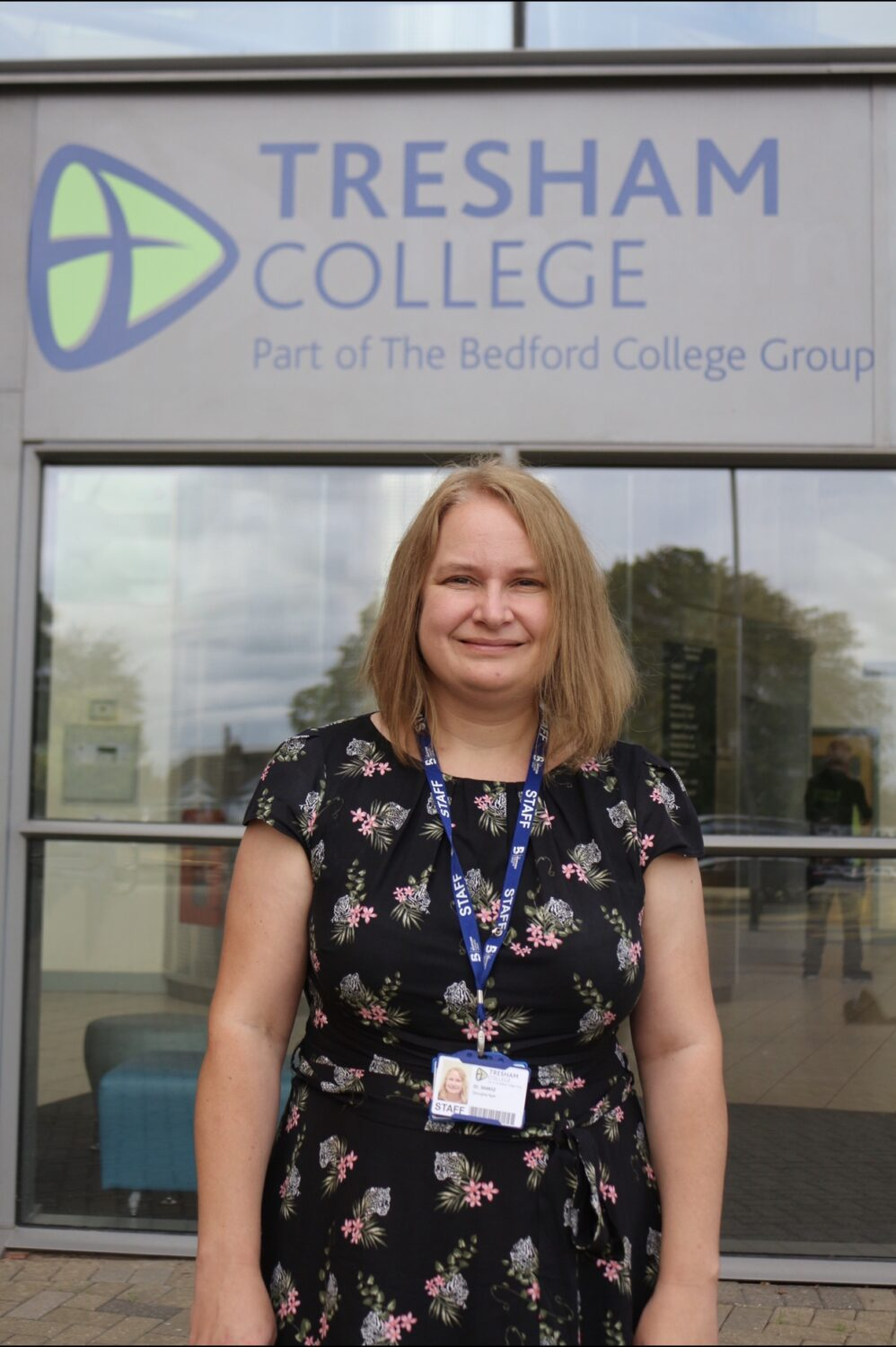 The Bedford College Group Vice Principal Georgina Ager outside Tresham College