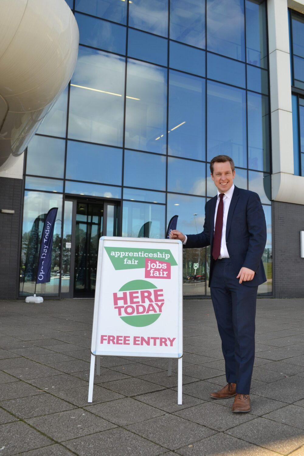 Corby MP at Tresham College Corby Campus