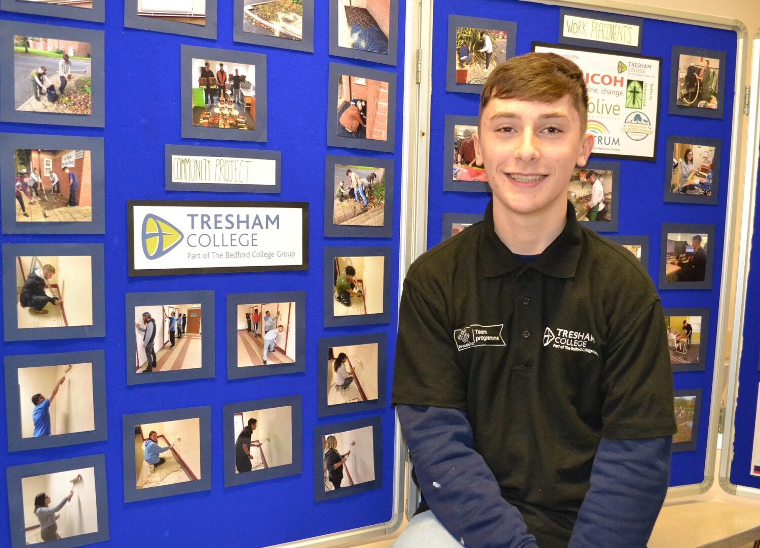 Bedford College Prince's Trust student Jacob