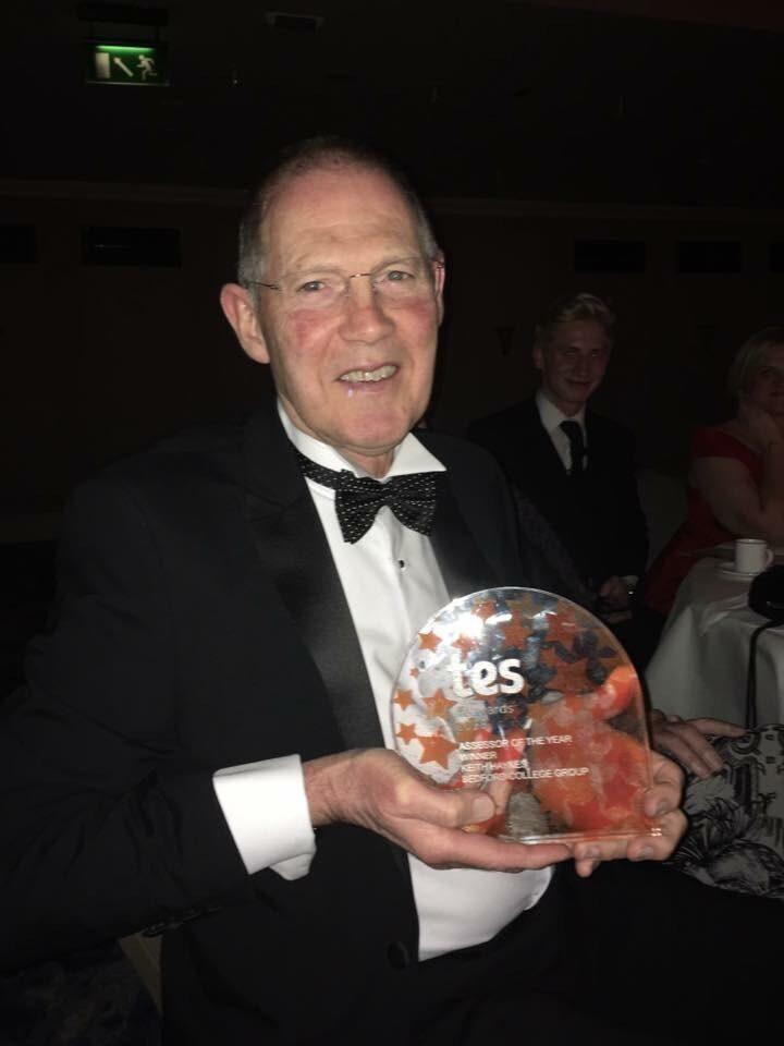 Tresham College Apprenticeship Assessor Keith Haynes TES Award Winner