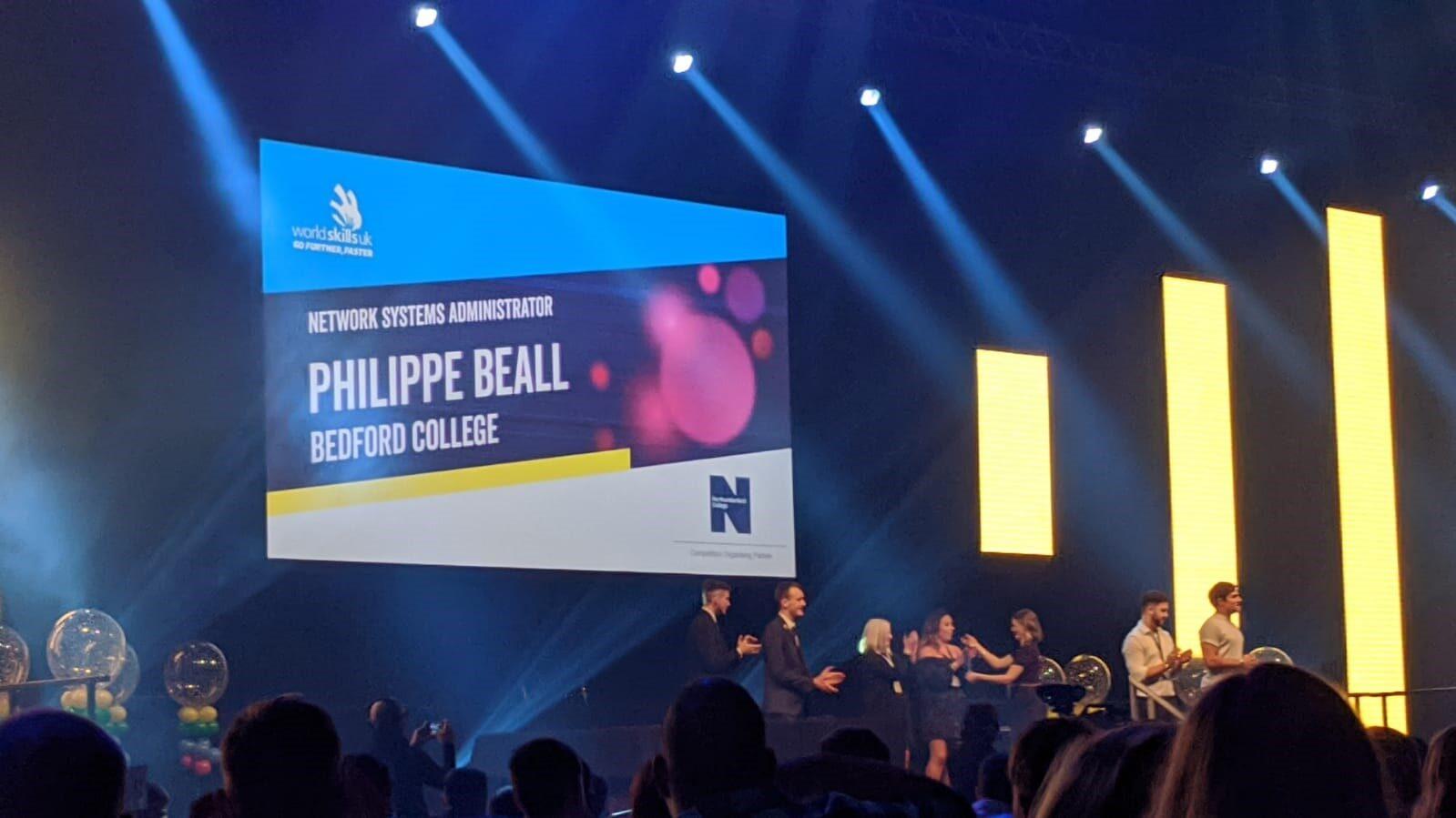 Gold in WorldSkills UK Technology Phill Bealle winner