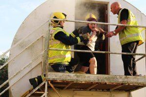 Tresham College Fire Service rescue exercise