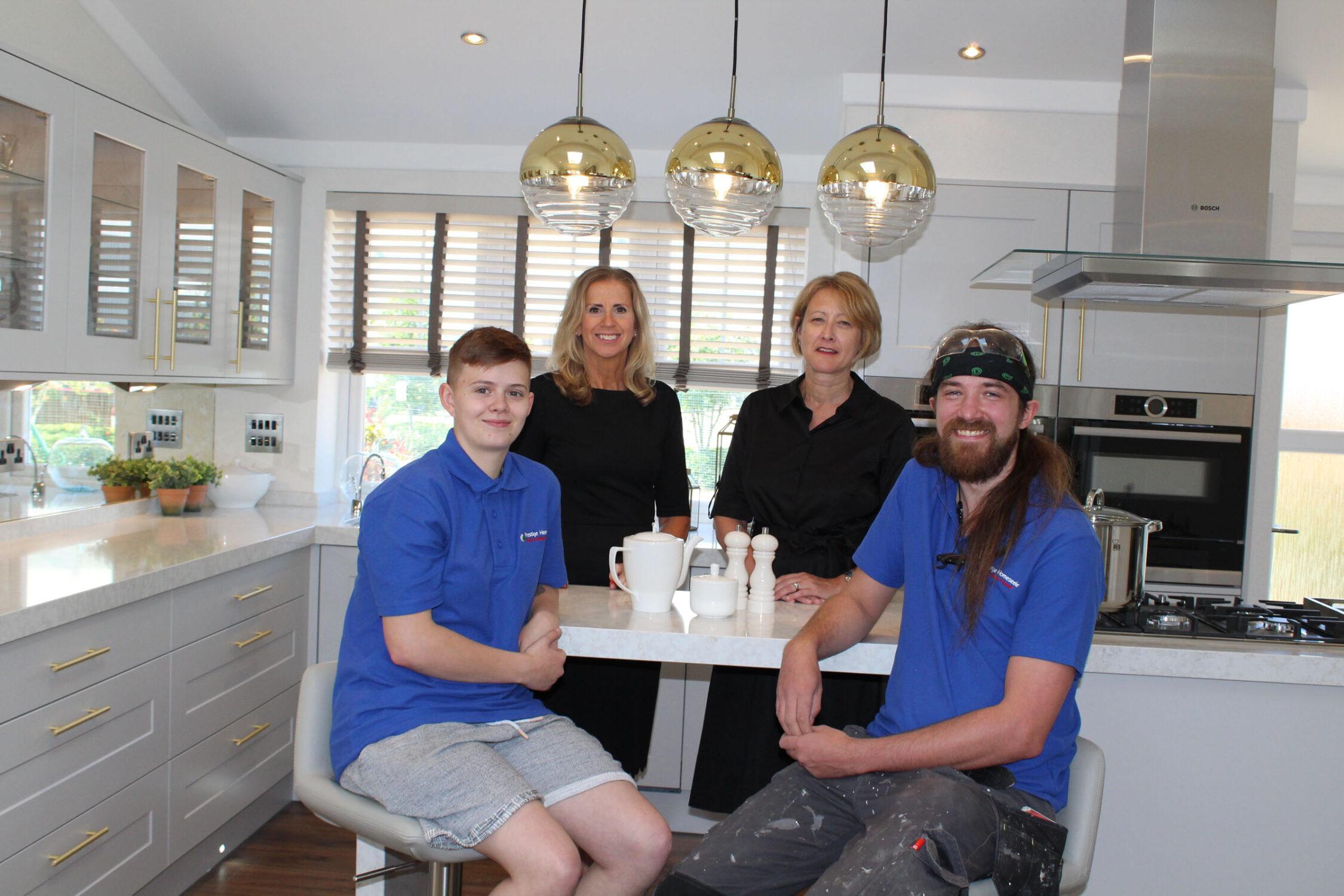 Prestige Homeseekers apprentices with Business Development Team