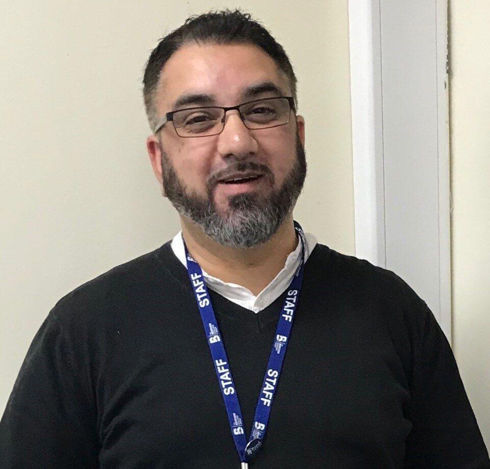Bedford College Computing tutor Tariq Hussain