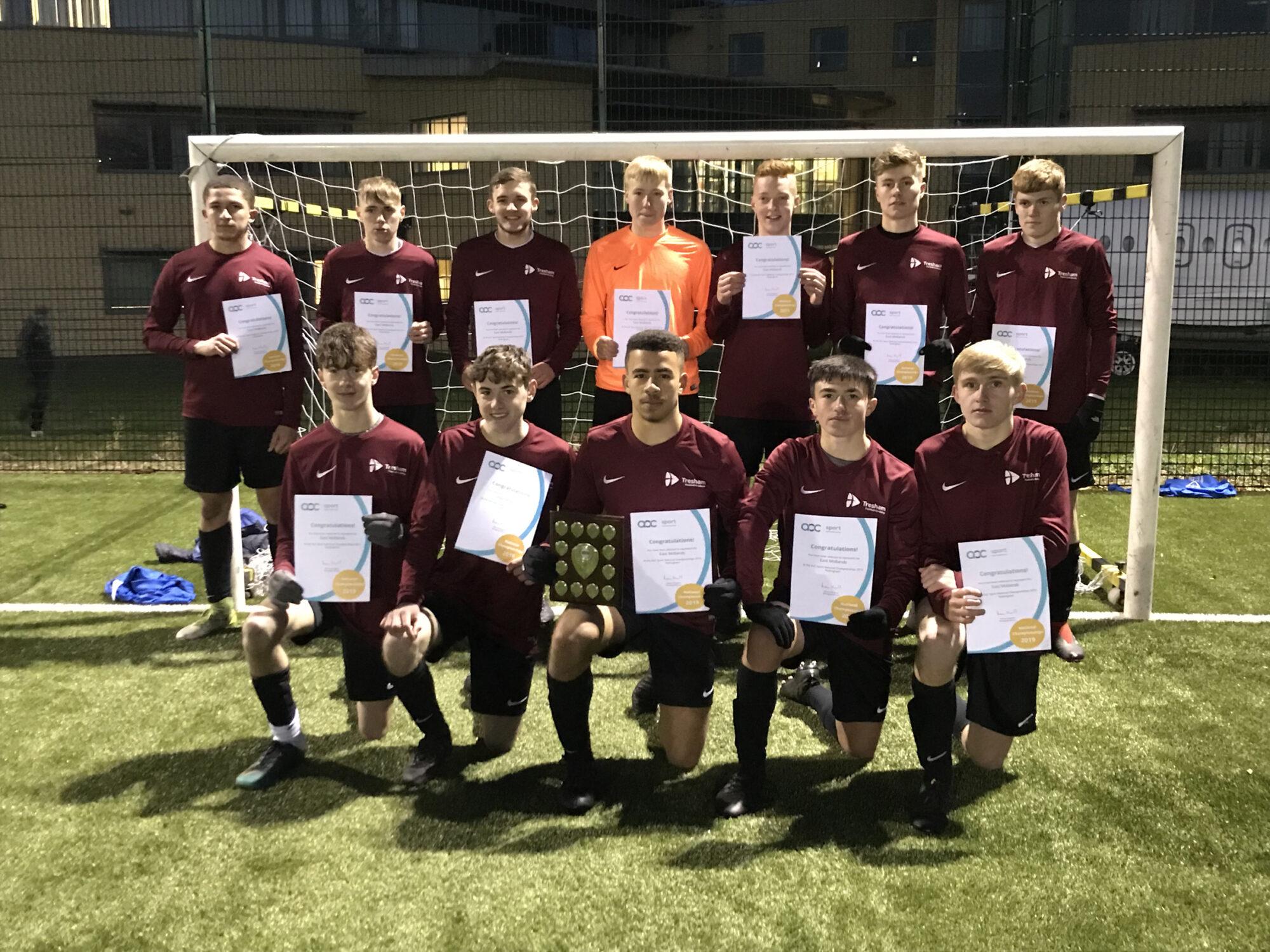 Tresham College Football Academy regional win 2018