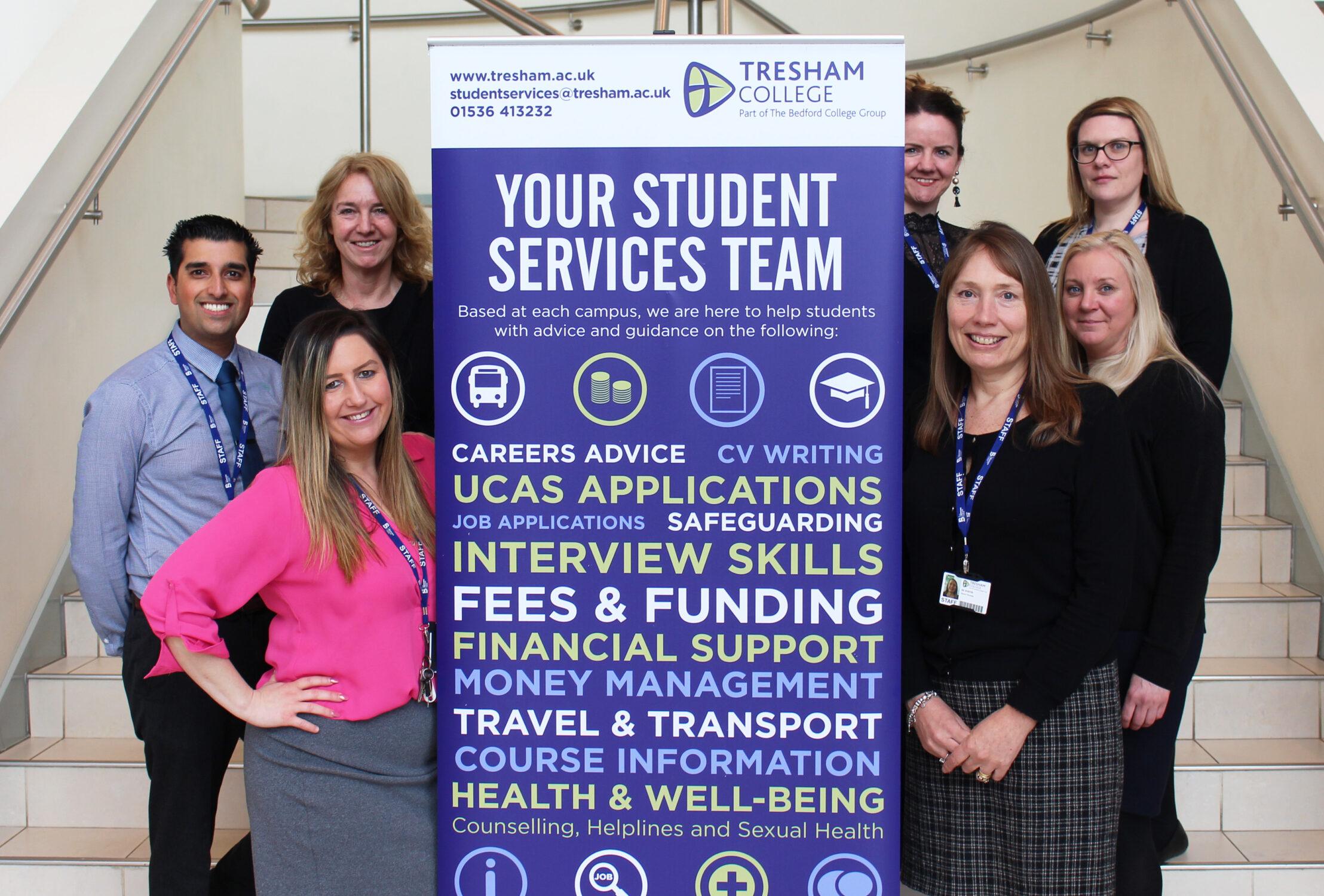 Tresham College Student Services Team