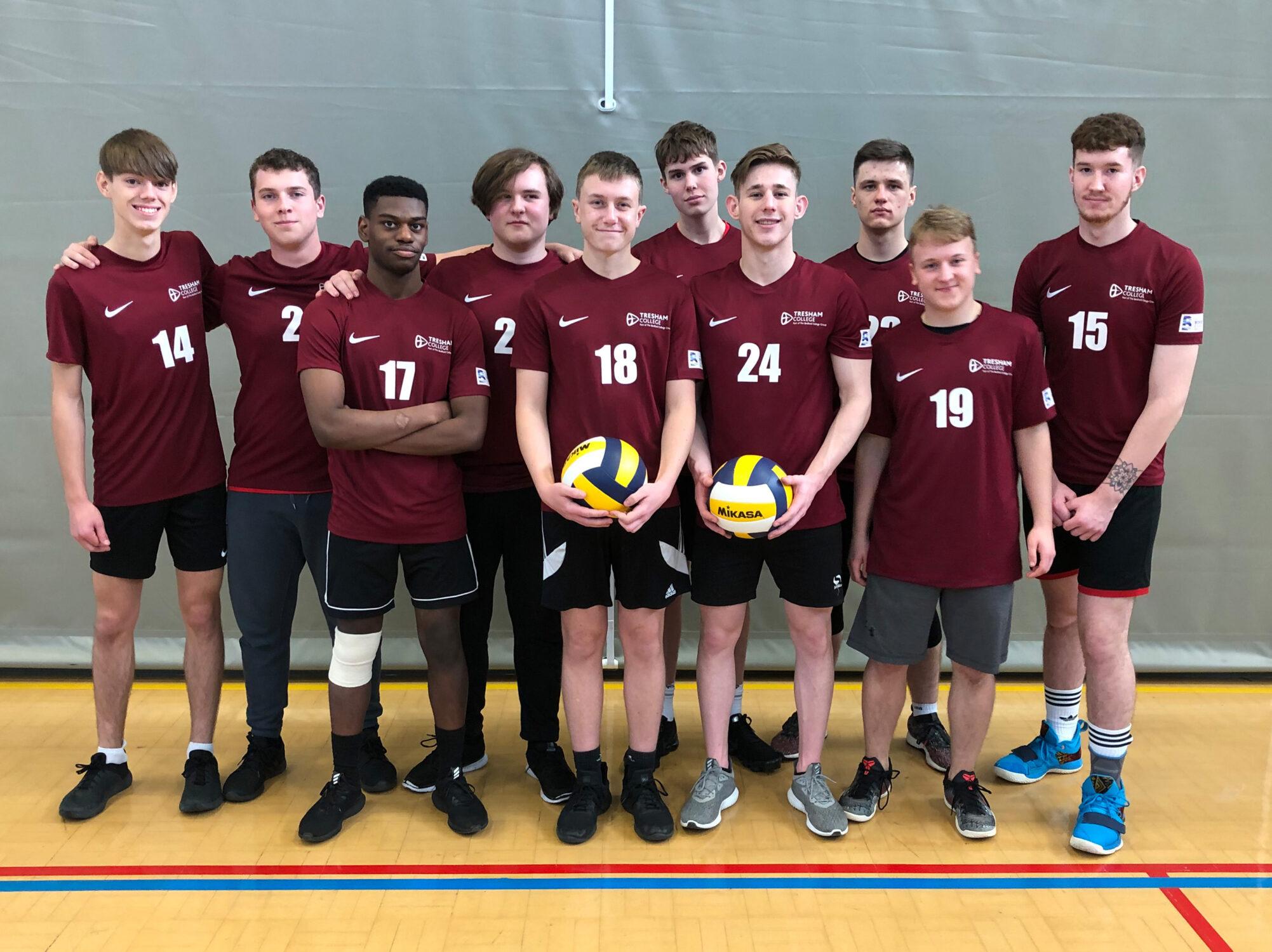 Tresham College Volleyball team students